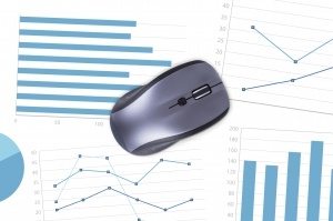 Computer Mouse with Financial Charts